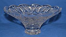 CRYSTAL BOWL  Waterford Center Bowl ''Celebration'' with scallop rim and a continous butterfly design around rim. Signed ''Waterford'' 12 3/4''x16 1/2''. Condition, age appropriate wear.
