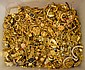 BIN OF GOLD TONE JEWELRY. Condition: all jewelry sold as is.