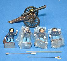 ACW SET No U1 LEAD SOLDIERS; American Civil War Union Artillery 1861-1865 1/32 scale; with box; near mint condition; Condidtion: Age Appropriate Wear; All items sold as is.