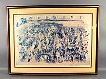 1977 LEROY NEIMAN (AMERICAN, 1921-2012) - NY Stock Exchange Lithograph; set in wood and gilt frame; Measures: Visible Art 24''H x 35''W, Frame 32''H x 43''W - Condition: Age appropriate wear; All items sold as is.