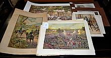 12+ CIVIL WAR LITHOGRAPHS - Including 1884 Kurz & Allison ''The Battle of Gettysburg'' Litho 9.5''x13'', 1861 Harper's Weekly pages and more - Condition: Age appropriate wear; All items sold as is.