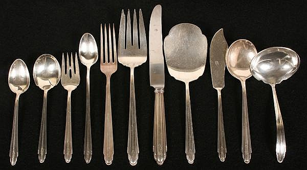Reed And Barton Candide Silverplate Flatware 56 Pieces Reed
