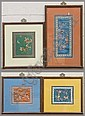 4 CHINESE EMBROIDERED SILKS