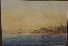 Fred Elliot (1864-1949) watercolour Sydney harbour