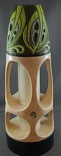 German Jugenstil Dressler pottery vase C:1910,