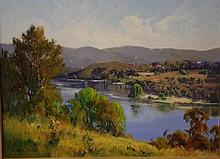 Chris Huber (1936-) The Hawkesbury Oil on