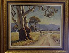 Robert Lovett (1930- ) Oil on Board measures 23 by