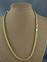 18ct yellow gold necklace approx 41.5 grams