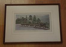 Julian Ashton (1851-1942), hand coloured engraving