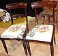 Two William IV dining chairs with tapestry seats