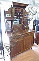 Queensland maple sideboard with mirrored back, and