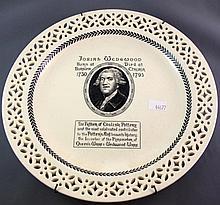 Vintage Wedgwood cabinet plate commemorating
