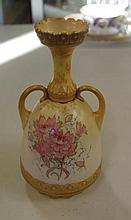 Antique Doulton Burslem two handled vase with
