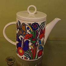 Villeroy and Boch  'Acapulco' teapot 20.5cm high,