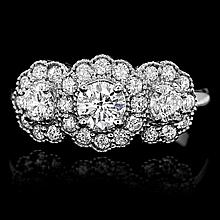 14ct white gold and 29 stone diamond ring 3
