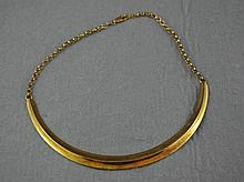 9ct yellow gold necklace with inscription '39 4