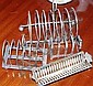 Three various  EP toast racks and one mint tray