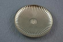 Vintage Tiffany Sterling silver ribbed dish