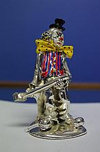 Silver clown figure stamped
