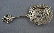 Victorian sterling silver tea strainer hallmarked