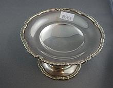 George V sterling silver sweetmeat dish hallmarked