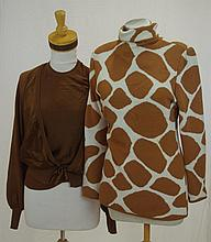 Valentino giraffe print turtleneck together with a