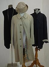 Burberrys beige trench coat in swing style, below