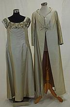 Vintage Hartnell silk evening dress and coat The