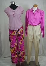 Gianfranco Ferre silk blouse and trousers the