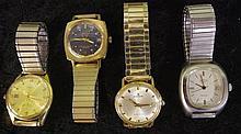 Four Vintage automatic men's wrist watches
