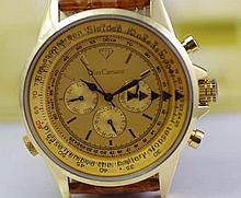 Yves Camani Calculatrice gold plated watch gold plated over stainless steel
