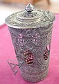 Indian silver filigree lidded container