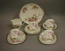 Royal Doulton 'Passion Flower' part teaset comprising of 4 cups, 4 saucers,