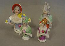 Four various half dolls including 2 German