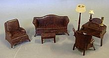 Vintage Kreeware dolls house furniture made in England