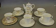 Royal Doulton tea for two service (missing 1 saucer), together with 2 Shell