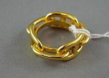 14ct yellow gold chain ring approx 11.3 grams