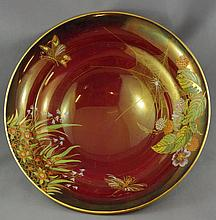 Carltonware Rouge Royale tri footed bowl
