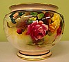 A large Royal Worcester jardiniere Hand painted