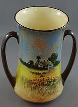 Royal Doulton two handled vase