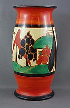 Clarice Cliff 'Fantasque' hand painted vase Trees