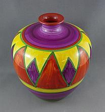 Clarice Cliff 'Bazaar' hand painted vase geometric
