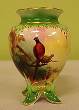 Small Royal Worcester vase Handpainted with