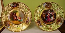Two signed Royal Vienna cabinet plates 32 cms