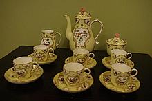 Very good Royal Worcester coffee set in the 18th
