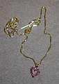 9ct gold necklace&heart; shaped pendant with