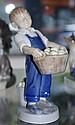 Royal Copenhagen figure of Boy with apple basket
