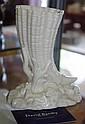 Royal Worcester Cornucopia Vase c1868 impressed
