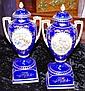 Two vintage Noritake lidded urns