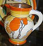 Clarice Cliff Fantasque ribbed jug